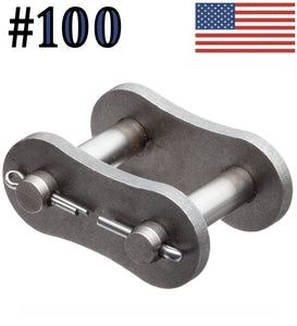 #100 Connecting Master Link for #100 Roller Chain (Pack Of 5)