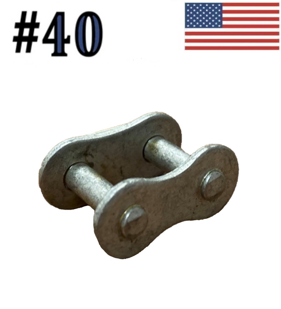 #40 Dacromet Plated Roller Chain Connecting / Master Links (Quantity of 10)