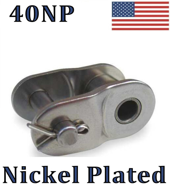#40NP Nickel Plated Offset Link (QTY 10) for #40NP roller chain 1/2