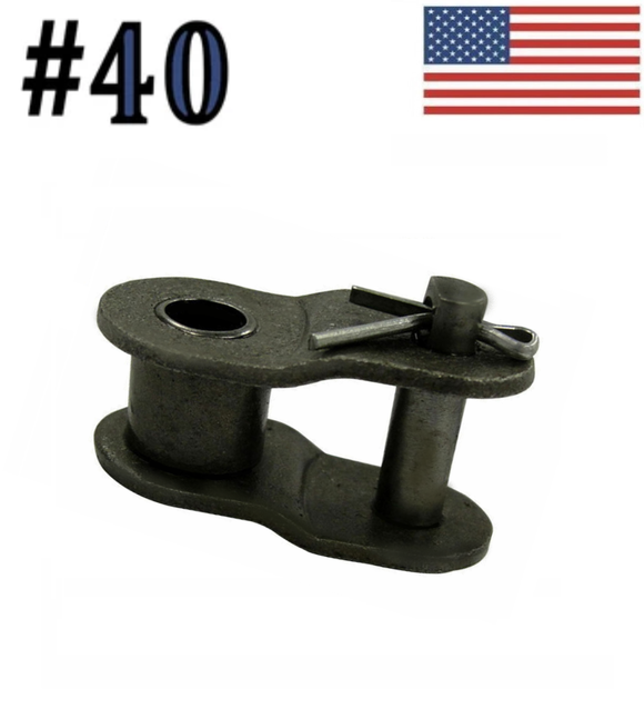 #40 Offset Link (10 pack) for #40 roller chain 1/2