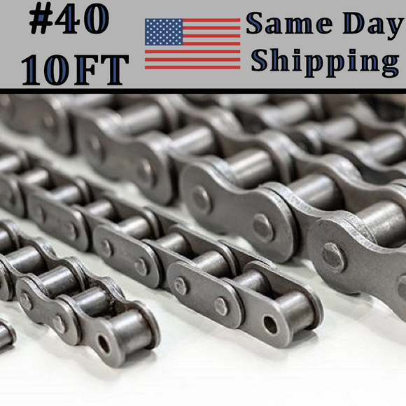 #40 Single Strand Roller Chain 10FT