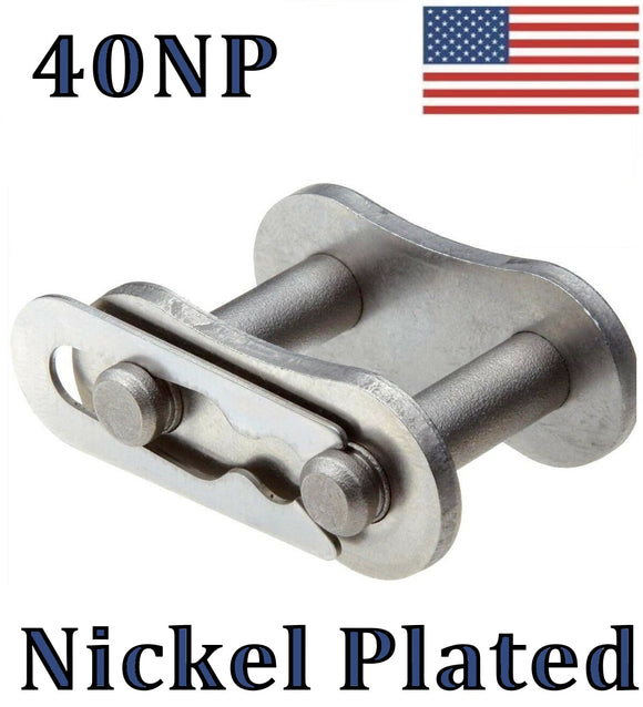 #40NP Nickel Plated Connecting / Master Link (10 pack) For #40NP Roller Chain