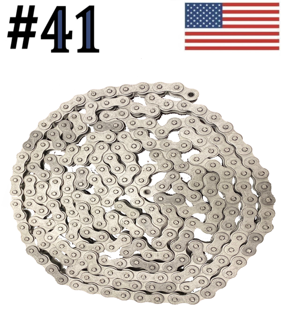 #41 x 10ft Dacromet Plated Corrosion Resistant Roller Chain With Connection Link