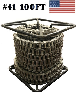 #41 100FT Reel Roller Chain +  Master Link SAME DAY SHIPPING