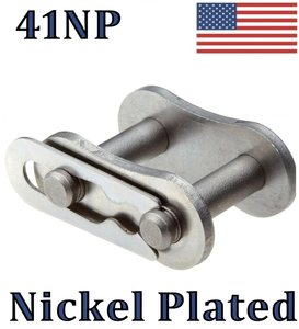 #41NP Nickel Plated Roller Chain Connecting / Master Link QTY 10 FAST SHIPPING