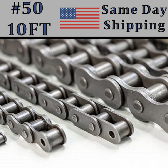 #50 Single Strand Roller Chain 10FT