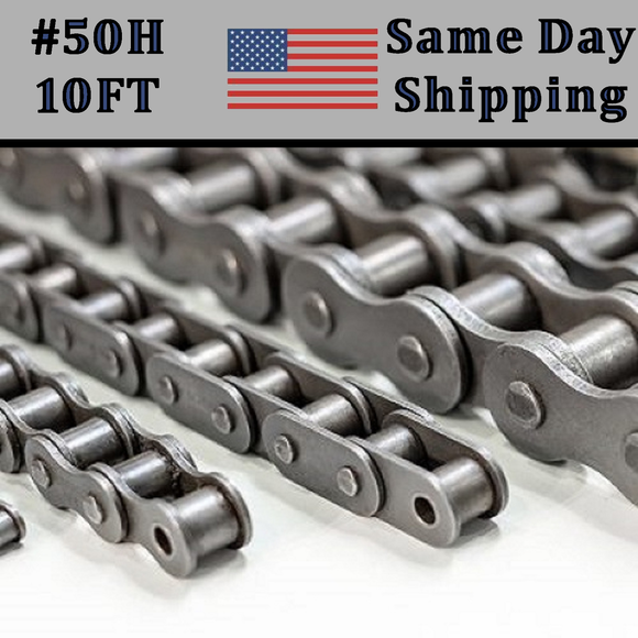 #50 Heavy Duty Roller Chain 10FT