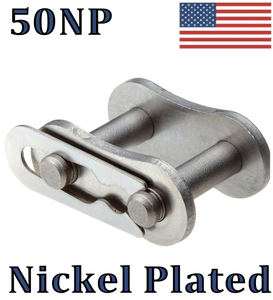 #50NP Nickel Plated Connecting / Master Link (10 pack) For #50NP Roller Chain