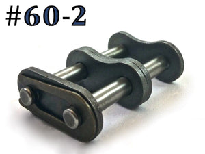 #60-2 ROLLER CHAIN MASTER CONNECTING LINKS *PACK OF 5*