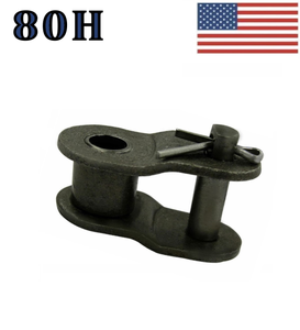 "#80H Offset Link (2 pack) for #80 Heavy roller chain 1"" Pitch"