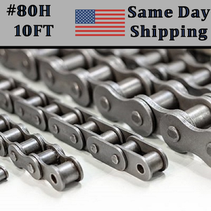 #80 Heavy Duty Roller Chain 10FT