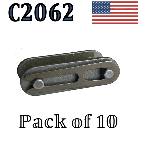 C2062 Connecting Link (10 pack) C2062 Conveyor roller chain 1 1/2