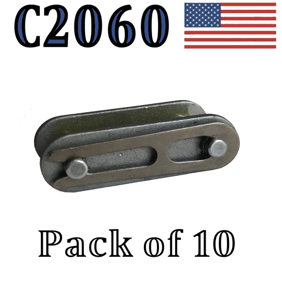 C2060 Connecting Link (10 pack) #C2060 Conveyor roller chain 1 1/2