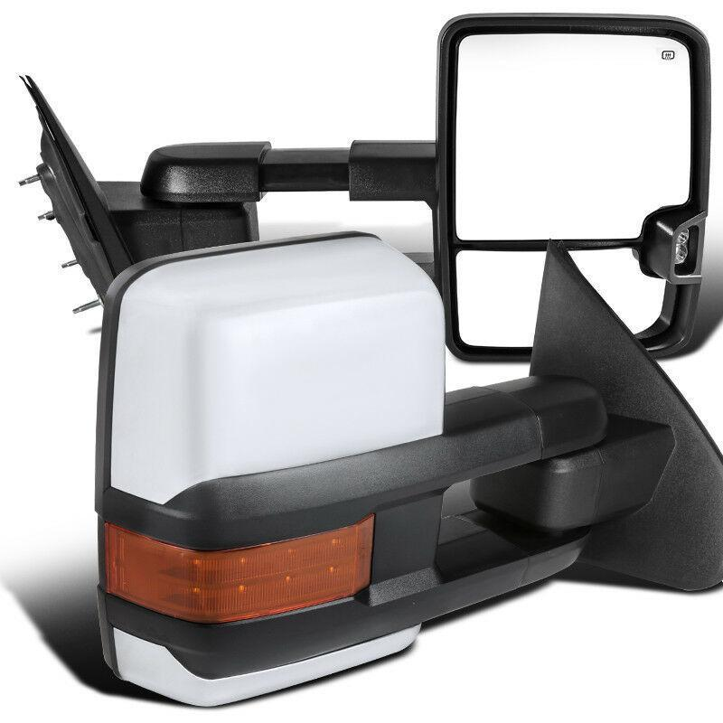 Pair for 2014-2018 Chevy GMC 1500 Power Heated Side Signal Towing Mirrors