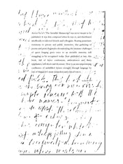 The Invisible Manuscript (3rd Printing)