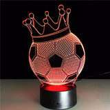 Ultras King Football 3D Lamp - Illusions 3D
