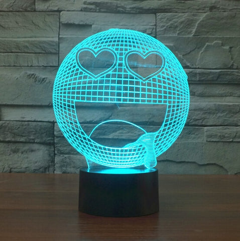 Drooling Heart-Eyed Lover 3D Lamp - Illusions 3D