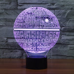Death Star 3D Lamp - Illusions 3D