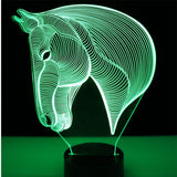 Horse Head 3D Lamp - Illusions 3D