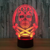 Skull & Bones 3D Lamp - Illusions 3D