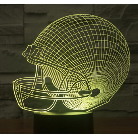 Rugby Hat 3D Lamp