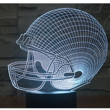 Rugby Hat 3D Lamp - Illusions 3D