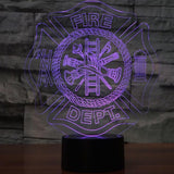 Firefighter Equipment 3D Lamp - Illusions 3D