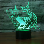 Big Mouth Bass 3D Lamp - Illusions 3D
