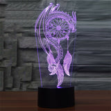 Dream Catcher 3D Lamp