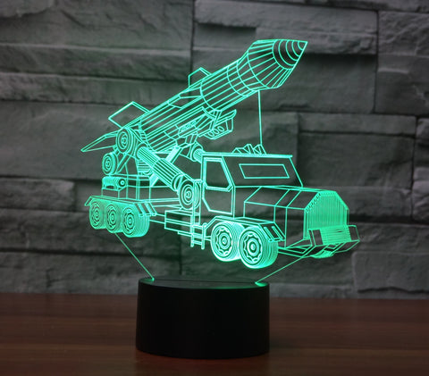 Missile Transporter 3D Lamp - Illusions 3D