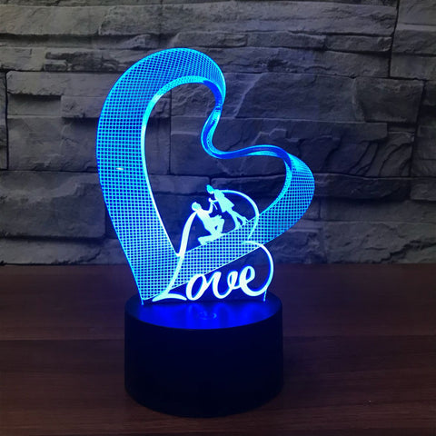 In Love 3D Lamp - Illusions 3D