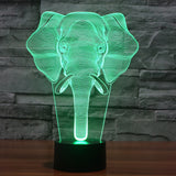 African Elephant 3D Lamp - Illusions 3D