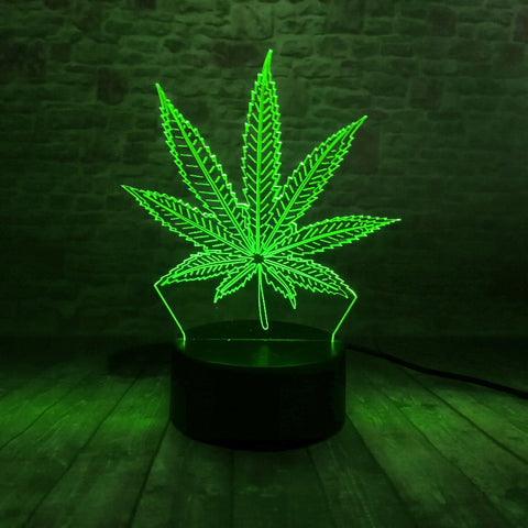 Da'Kind Herbs Leaf 3D Lamp - Illusions 3D