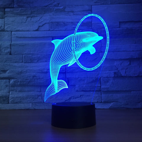 Dolphin 3D Lamp - Illusions 3D