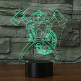 Firefighter Mask & Cross Axes 3D Lamp - Illusions 3D