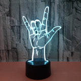Sing Language I Love You 3D Lamp - Illusions 3D