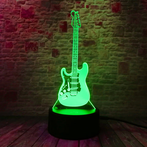 Fender Electric Guitar 3D Lamp