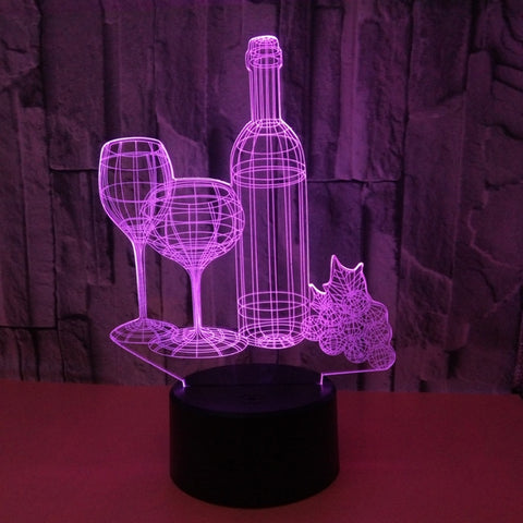 Lovers Night 3D Lamp - Illusions 3D