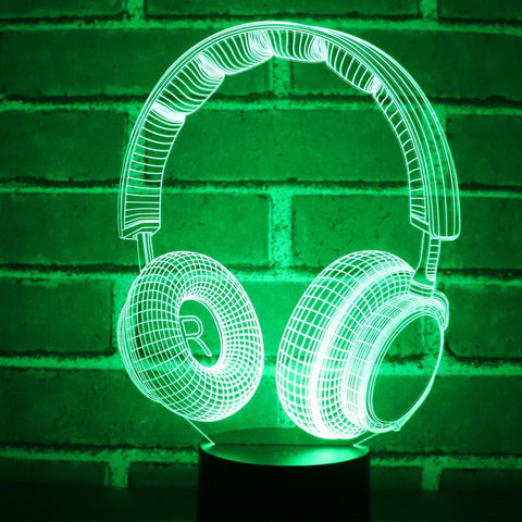 Headphone 3D Lamp