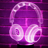 Headphone 3D Lamp - Illusions 3D
