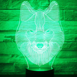 Wise Wolf 3D Lamp - Illusions 3D