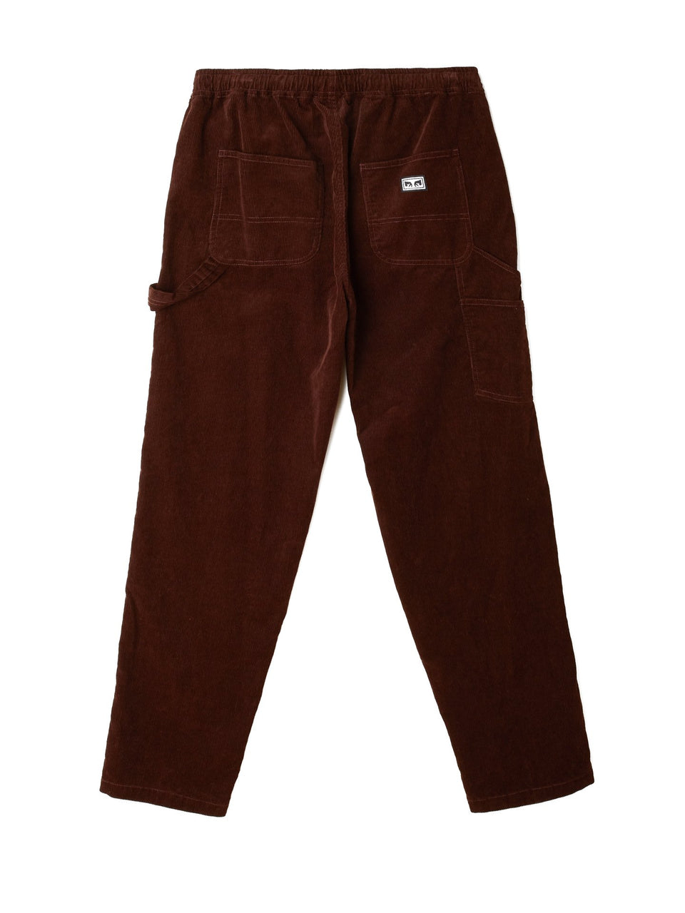 OBEY • Pantalon Easy Carpenter Corduroy Marron