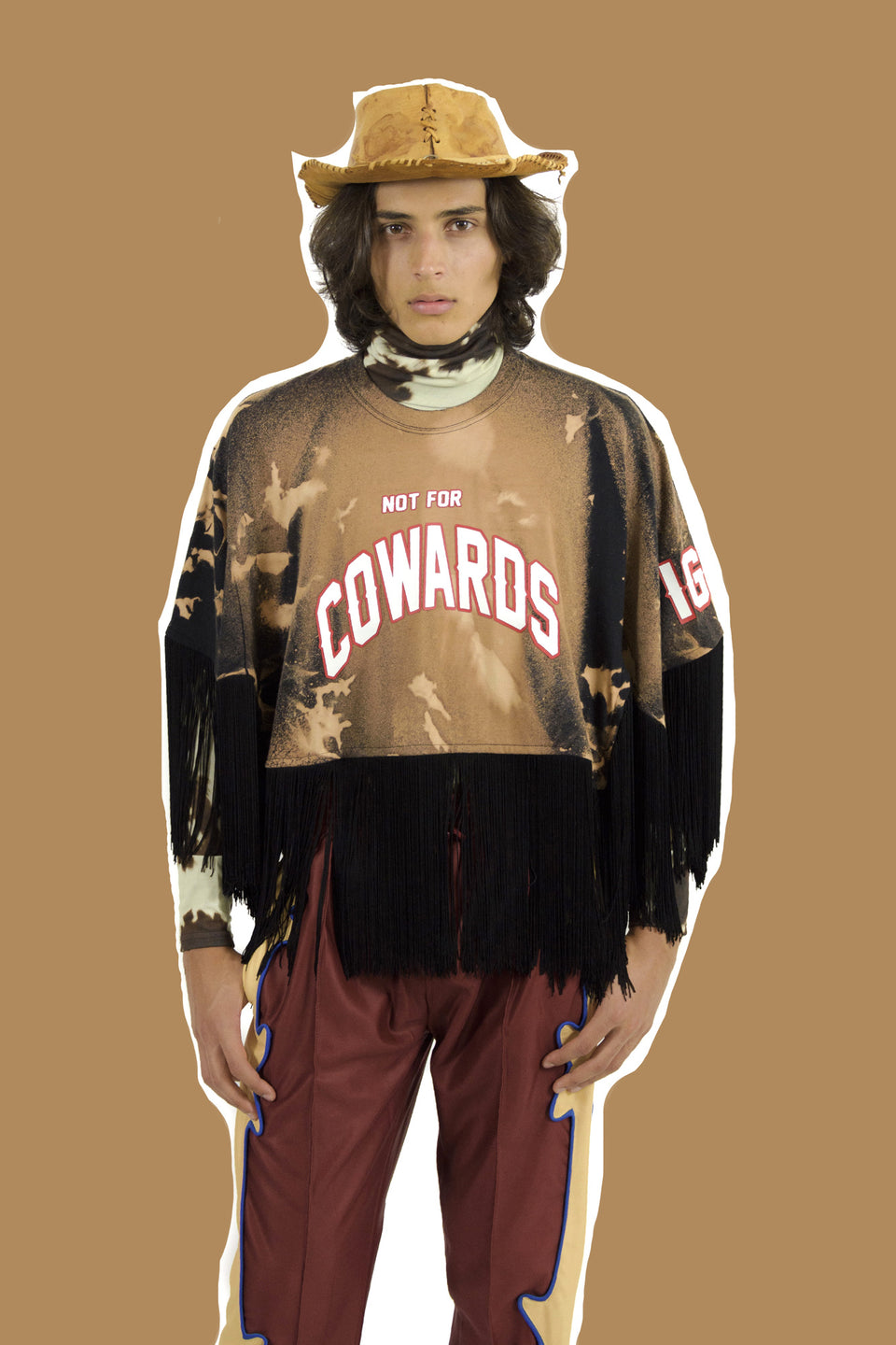 8IGB • T-shirt-Poncho à Franges NOT FOR COWARDS Tie & Dye