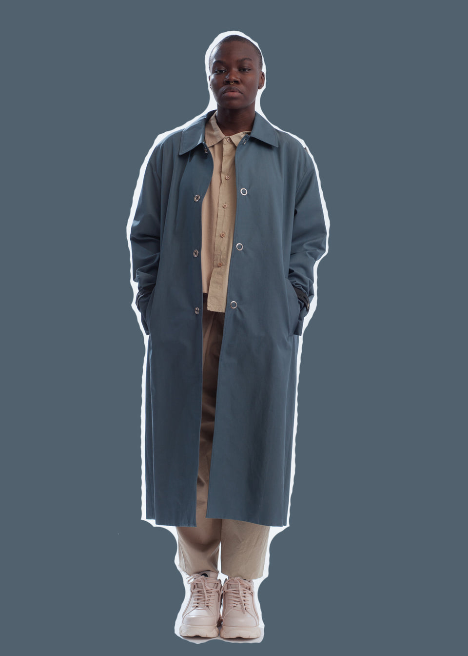 YOUSER • Trench modulable Bleu