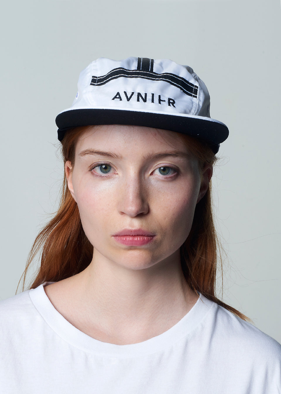 AVNIER • Casquette 5 panel Transparent Blanche