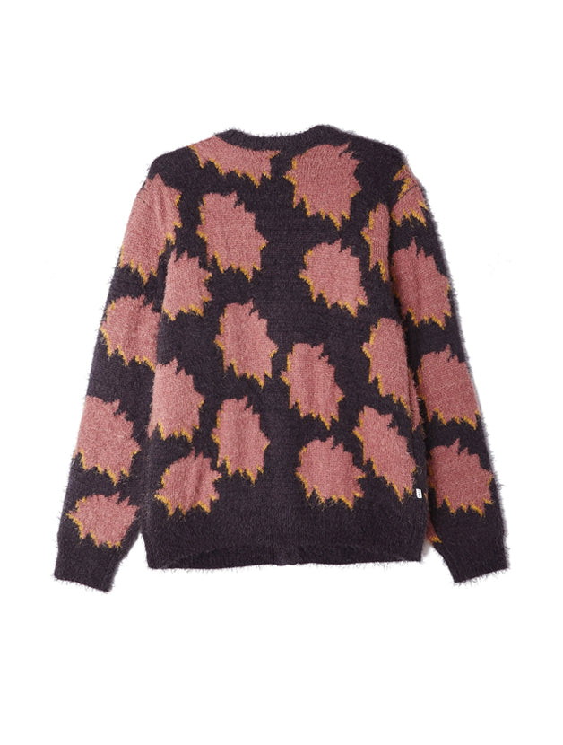 OBEY • Cardigan Crackle Gris et Rose
