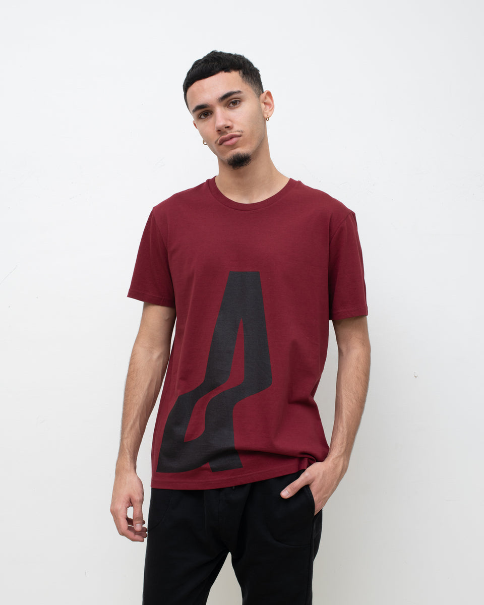 AGOGO • BASIC TEE Big A Bordeaux