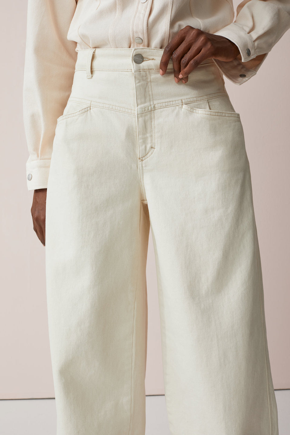 CLOSED • Pantalon Wide Denim Écru