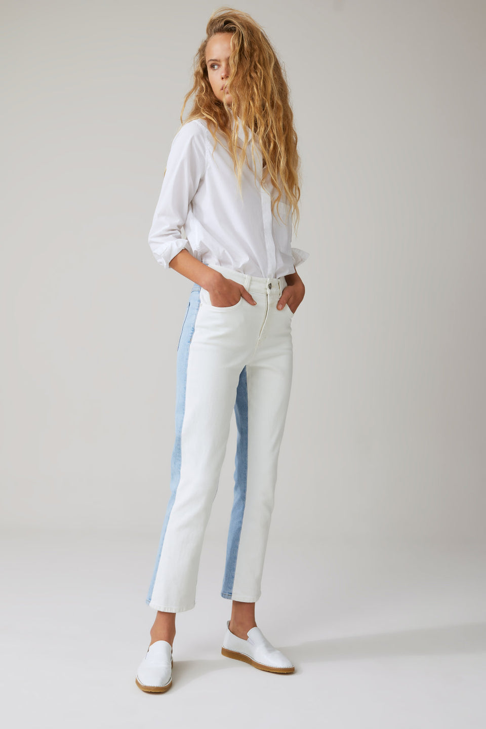 CLOSED • Pantalon Gloria Jean bicolore Blanc / Bleu
