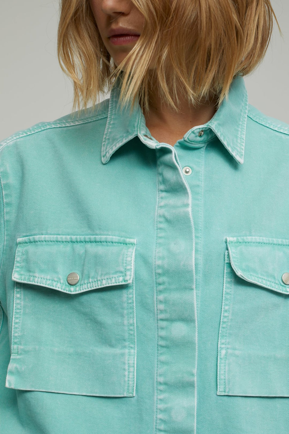 CLOSED • Surchemise en Denim Vert d'eau
